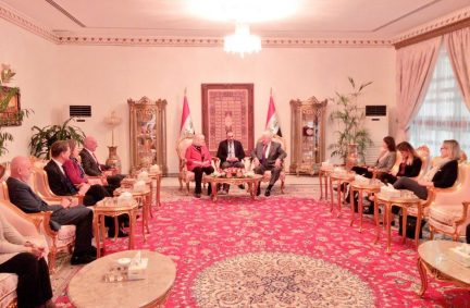 The UK delegation led by Rt Hon Ann Clwyd MP meets with the President of Iraq, HE Fuad Massoum