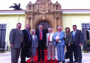 Standing outside the Costa Rican Ministry of Foreign Affairs