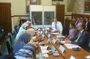 The Sudan delegation in roundtable talks with UK counterparts