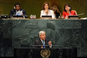 Speaker of the House of Commons, Rt Hon John Bercow MP, addresses the Speakers Conference on LGBT rights on 31 August
