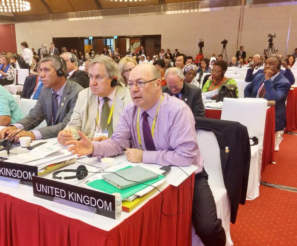 BGIPU Chair addressing 132rd IPU Assembly in Hanoi on terrorism resolution