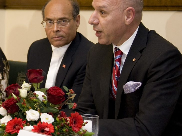 The Tunisian Secretary of State for American and Asian affairs also joined the President on the panel