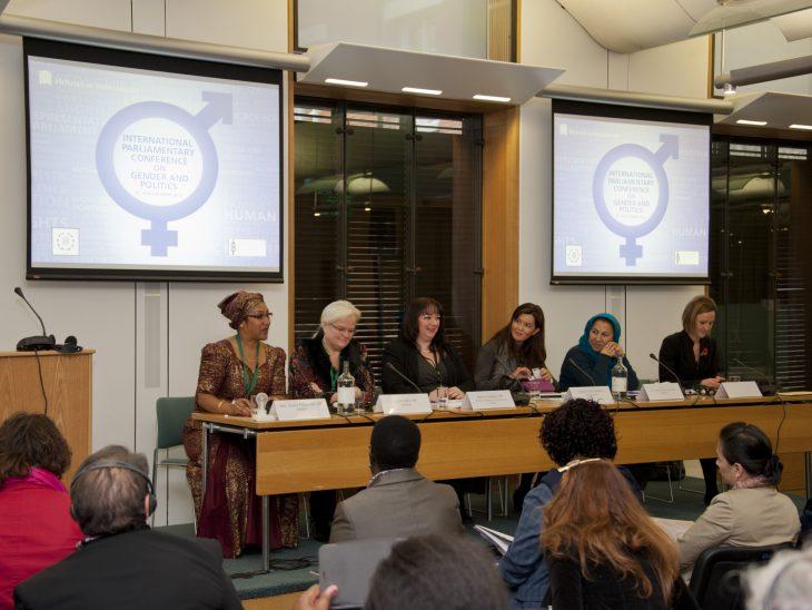 From left to right) Hon Annie Munshya Chungu (Zambia), Liselott Blixt MP (Denmark), Sharon Hodgson MP (UK), Senator Pia Cayetano (Philippines), Shinkai Zahine Karokhail MP (Afghanistan)