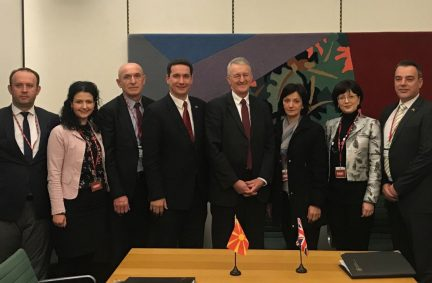 Visiting delegation from North Macedonia meet the Chair of the Exiting the European Union Committee, Rt Hon Hilary Benn MP