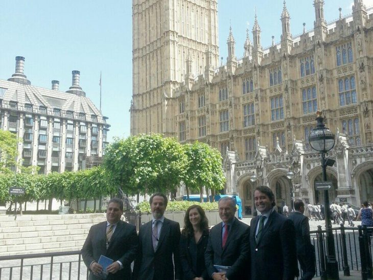 Delegation from Portugal at Palace of Westminister