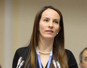 The IPU President elected at the 137th IPU Assembly in October 2017, Senator Gabriela Cuevas Barron