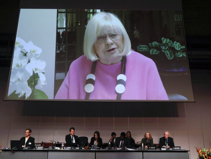 BGIPU Vice-Chair Ann Clwyd MP delivered a video address to the 139th IPU Assembly marking the 70th anniversary of the Universal Declaration of Human Rights