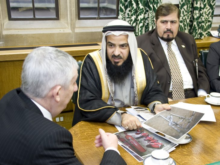 The deputy speakers discussing the security situation in Bahrain