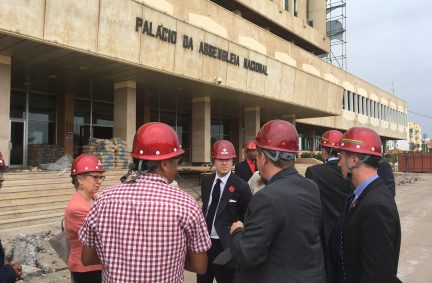 Lord Purvis and other members of the UK delegation visit the CADFUND funded parliament refurbishment project
