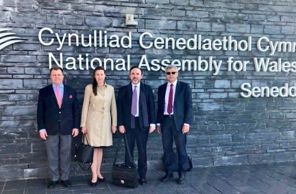 Members of the delegation from Lithuania visited the Welsh Assembly to look at devolution issues in the UK