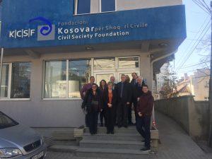 UK Delegation meet members of the Kosovar Civil Society Foundation
