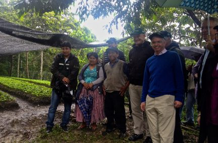 With Coffee Farmer in the Yungas Region