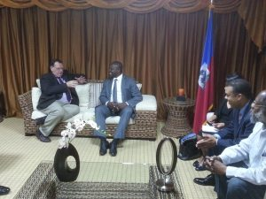 Lord Griffiths meets President of the Senate, Simon Desras, and Senators