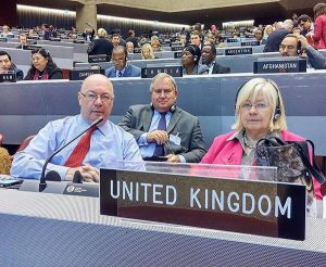 UK Members of the IPU Governing Council at the 131st Assembly, Alistair Burt MP, Robert Walter MP and Ann Clwyd MP