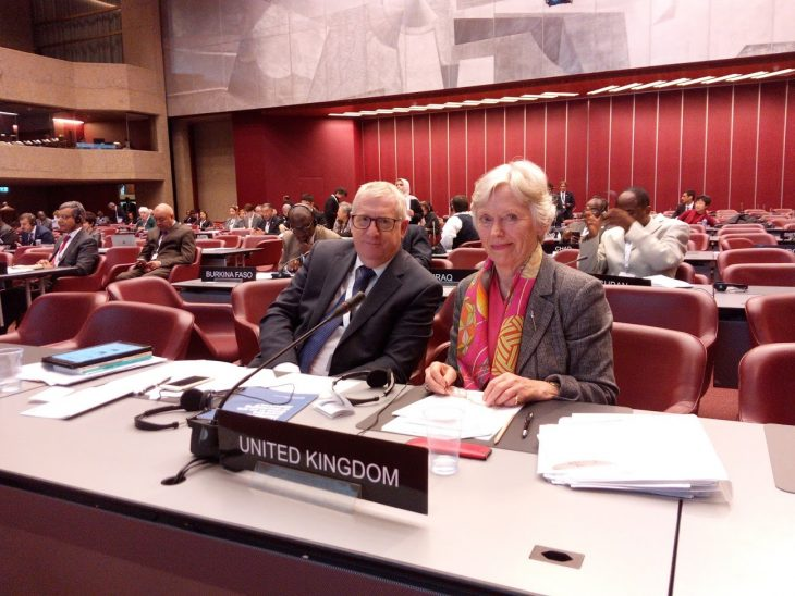 Douglas Chapman MP and Baroness Hooper participate in the IPU Committee on UN Affairs