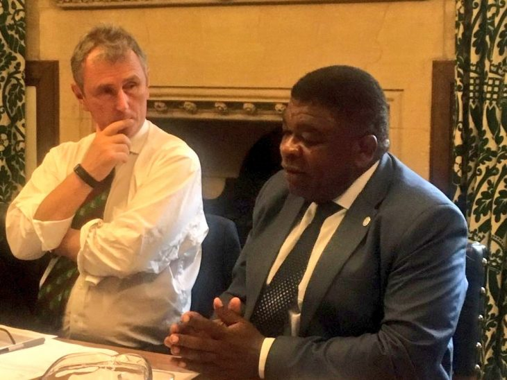 BGIPU Chair, Nigel Evans MP, listens as IPU Secretary General Martin Chungong  briefs the Executive Committee on IPU priorities