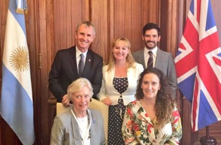 UK Delegation to the P20 with the Vice-President of Argentina, Ms Gabriela Michetti