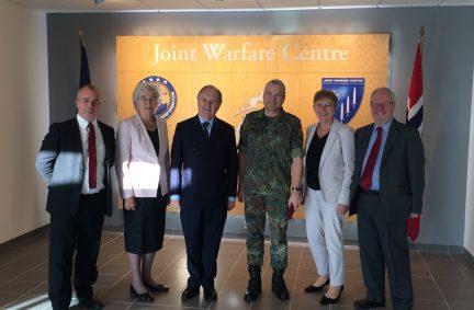 UK delegation visit the NATO Joint Warfare Centre in Stavanger