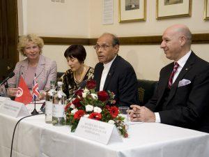HE Dr Moncef Marzouki with Dawn Primarolo MP, Meg Munn MP and Mr Hedi Ben Abbes