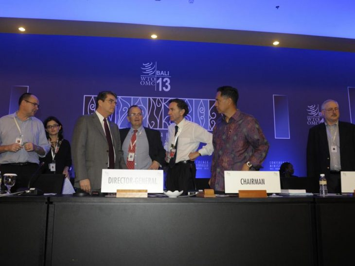 Lord Green with Indonesian counterpart Gita Wirjawan and WTO Director General Azevado