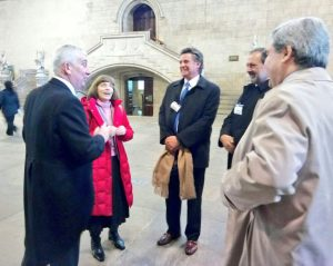Uruguay Speaker and delegation welcomed to the Palace of Westminster by the Deputy Speaker, Lindsay Hoyle MP