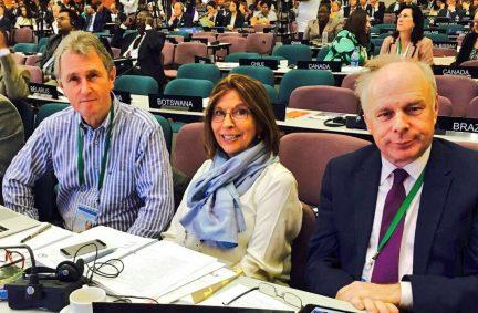 UK Governing Council members (L-R), BGIPU Chair Nigel Evans MP, Baroness D'Souza CMG PC and Ian Liddell-Grainger MP