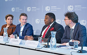 IPU Secretary General Martin Chungong at the Climate Change Conference in Bonn. © James Dowson/UNFCCC