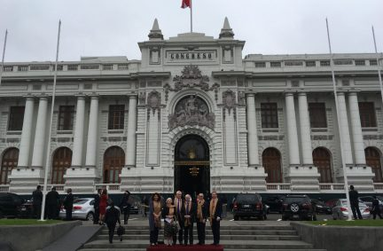 The delegation visited the Peruvian Congress in Lima at a time of political change