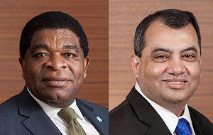 IPU Secretary General, Martin Chungong (L) and IPU President, Saber H. Chowdhury MP (R)