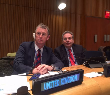 Ian Lucas MP and Nigel Evans MP at the 2016 UN Parliamentary Hearing