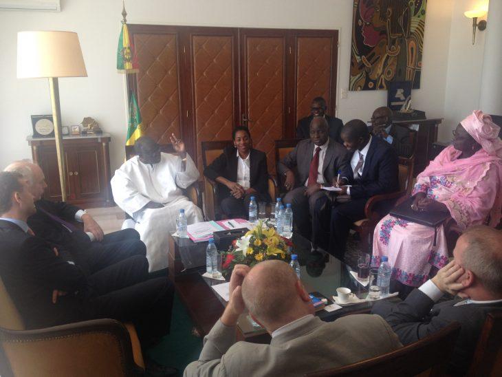 With Speaker Moustapha Niasse