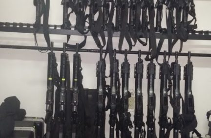 The delegation also inspected a police armoury at an anti-kidnapping unit in Puebla State