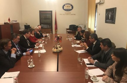 UK Delegation meets members of the UK-Albania Friendship Group of the Parliament