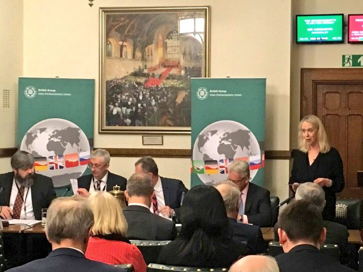Shadow Deputy Foreign Secretary, Liz McInnes MP, seconded the adoption of the report