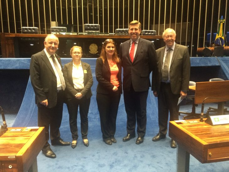 Members of the Brazil APPG delegation met with Brazilian parliamentary counterparts