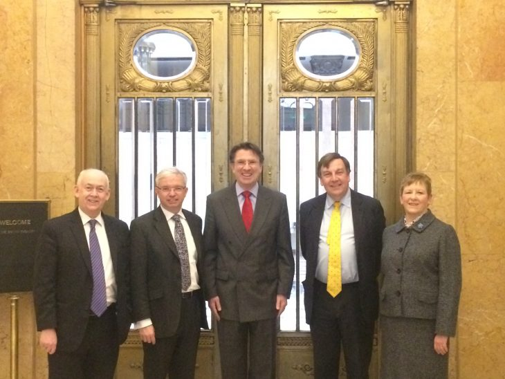 BGIPU Delegation at the UK Embassy with HM Ambassador Iain Lindsay