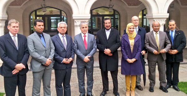 The delegation toured the soon to be opened new premises of the Oxford Center for Islamic Studies