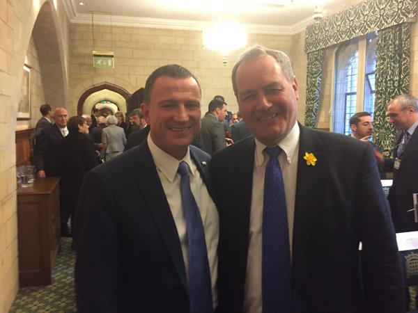 Speaker Edelstein meets BGIPU Executive Committee member, Bob Blackman MP