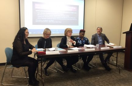 Baroness Armstrong leading a side event during CSW 61