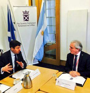 Scottish Presiding Officer Ken Macintosh MSP with Speaker Pinedo