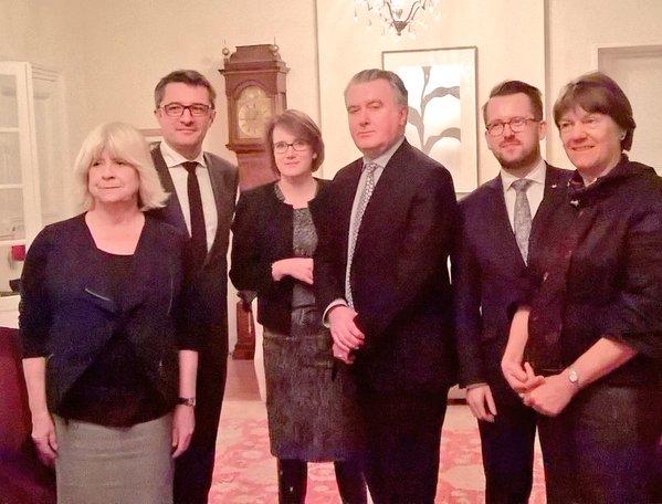 Members of the UK delegation with Erwann Binnet MEP