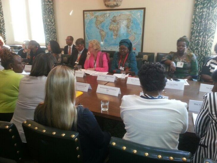 Baroness Hodgson chairs the session on parliamentary approaches to ending sexual violence in conflict