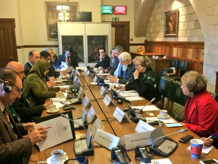 The visiting delegation had a roundtable meeting with UK counterparts on key developments in Iraq