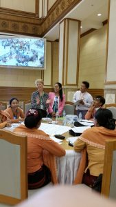 Angela Smith MP delivering a session for counterparts from Myanmar