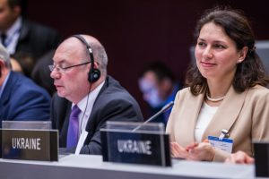 BGIPU Chair participating in IPU Assembly alongside counterpart from Ukraine