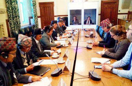 Nepal Delegation meet DFID Minister Desmond Swayne MP for talks