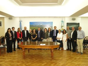 Meeting with local authorities in Mendoza
