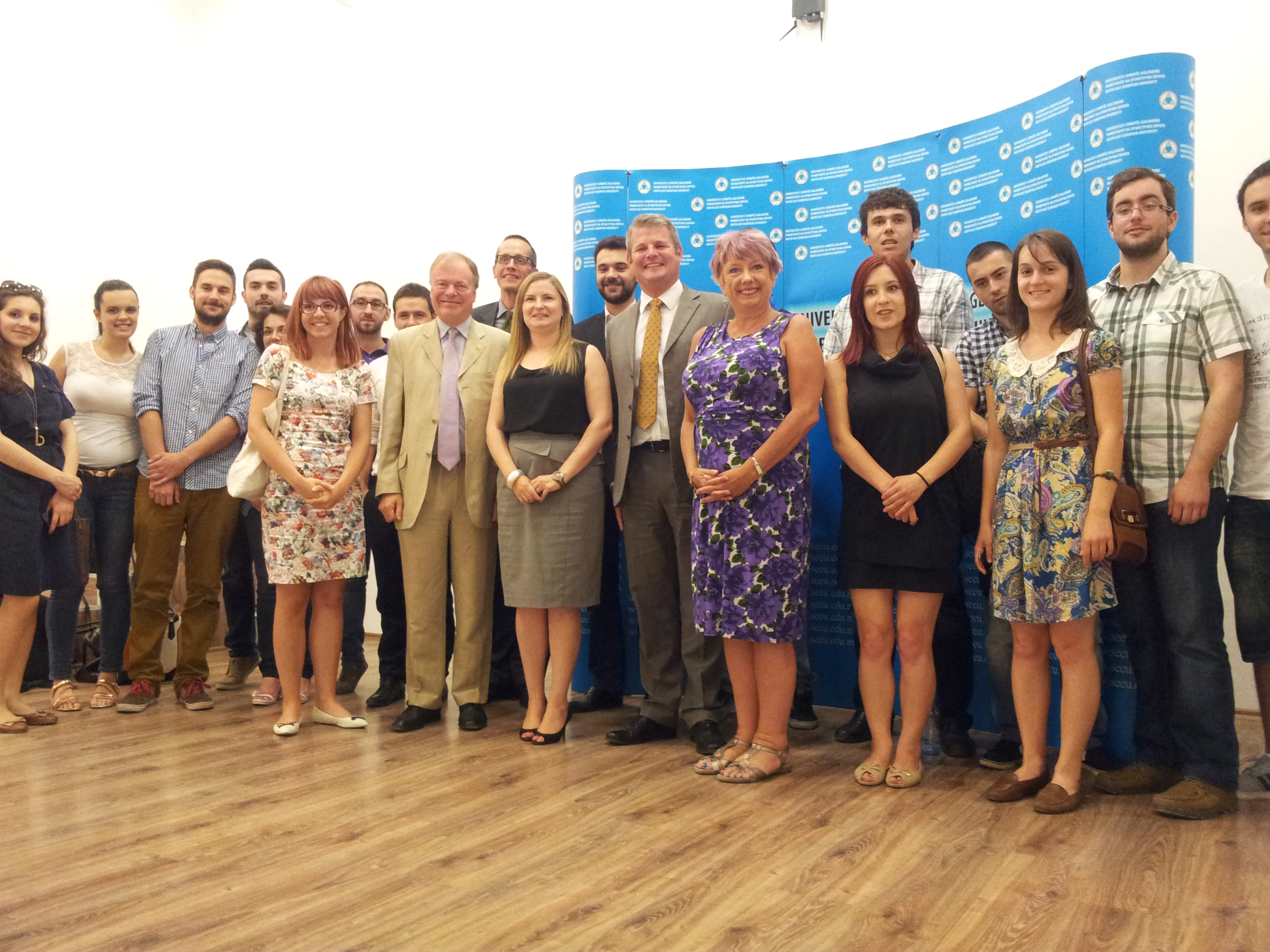 APPG delegation meets with students in Macedonia
