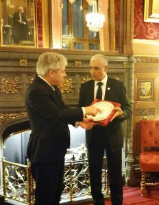 The Speaker of the UK House of Commons, Rt Hon John Bercow MP meets his counterpart from Morocco, Mr Rachid Talbi Alami MP