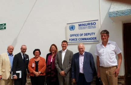 The Morocco APPG delegation also visited the UN's MINURSO operation in Western Sahara